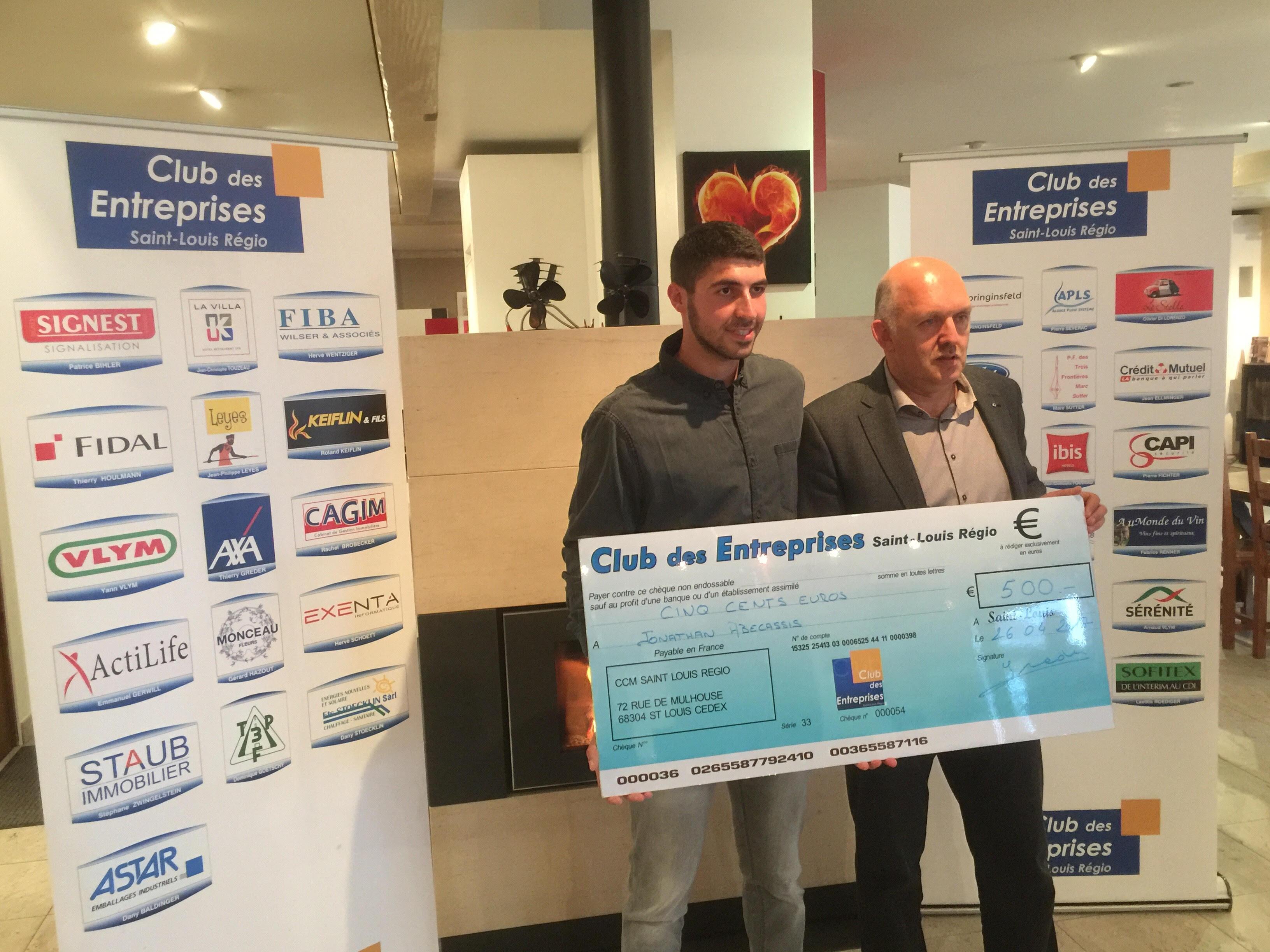 Remise de chèque – Cyrille Schaub